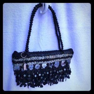 Mido Collection Coconut Shell & Mother Pearl Purse